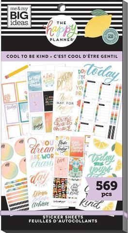 Блокнот со стикерами для ежедневника Create 365 Happy Planner Value Pack Stickers - Cool to Be Kind- 569 шт