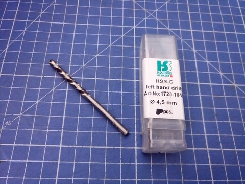 Сверло по металлу ц/x 4,5x80/46мм (LH-Левостороннее) DIN338 h8 5xD HSS-G 135° HSS-Tools 1720-1045