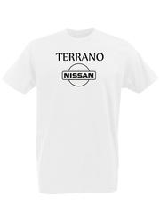 Футболка с принтом Ниссан (Nissan) белая 0003