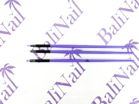 Набор кистей фиолетовая TNL (3 шт.)
