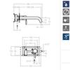 Встраиваемый смеситель для раковины ATICA 752003 - фото №2