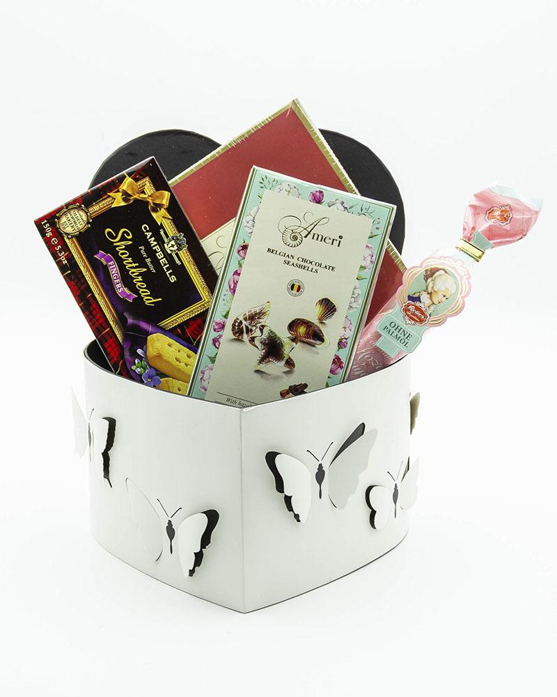 Подарочный набор с конфетами Бабочка