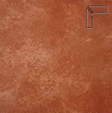 Interbau - Alpen, Kastanie/Красная глина, цвет 059 - Клинкерный плинтус ступени левый, 3 части