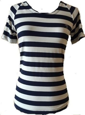 Футболка-тельняшка женская - Магазин тельняшек.ру 8-800-700-93-18Тельняшка-футболка с рукавом реглан в Магазине тельняшек