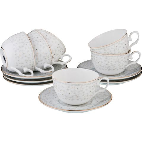 Чайный набор на 6 персон из фарфора