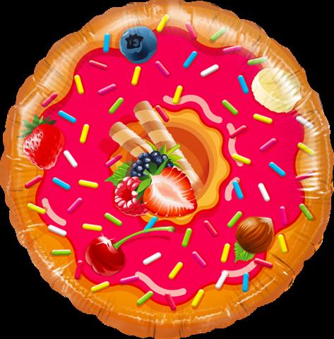 К Круг, Пончик, 18''/46 см, в упаковке, 1 шт.