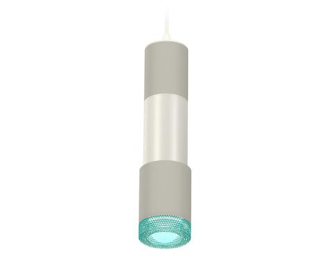 Комплект подвесного светильника XP7423002 SGR/PSL/BL серый песок/серебро полированное/голубой MR16 GU5.3 (A2301, C6314, A2060, C6325, A2030, C7423, N7194)