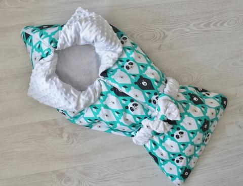 Летнее одеяло - конверт - трансформер на выписку Полярный мишка