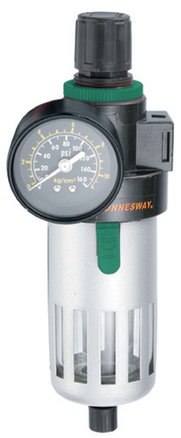 JAZ-0533 Фильтр-сепоратор с регулятором давления для пневматического инструмента 3/8