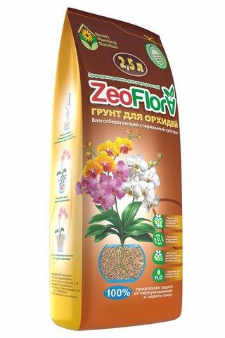 Влагосберегающий грунт ЦеоФлора для орхидей 2,5 л