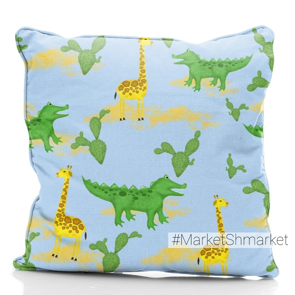 Жираф и крокодил