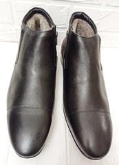 зимние мужские ботинки кожа