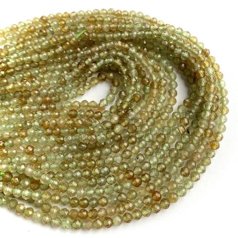 Бусины гранат андрадит А граненый 3,2 мм цена за 66 бусин (~19 см)