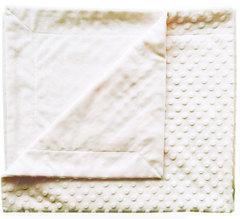 Папитто. Плед двухслойный вельбоа рельефный 82х92 см белый