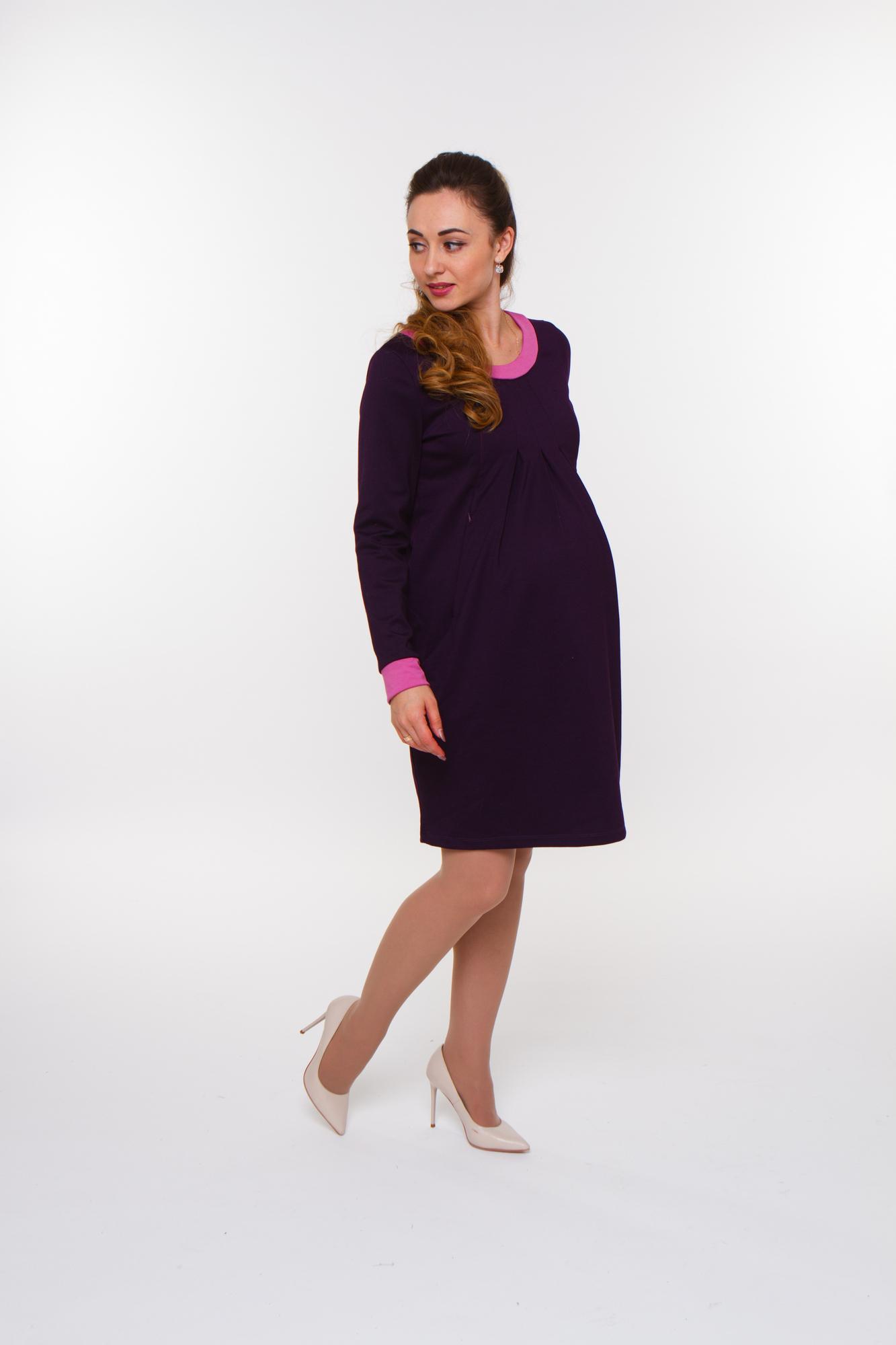 Платье для беременных 07963 фиолетовый