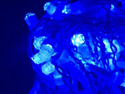 Штора-гірлянда Кришталь D 120 LED (E) 3 на 0.5 м. синя