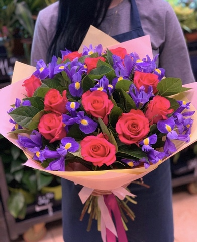 Ирисы и розы #16279