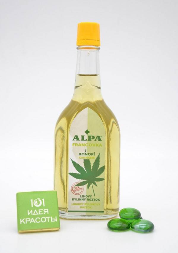 Alpa францовка Конопля 160 мл - спиртовый травяной раствор (для расслабления всего тела)