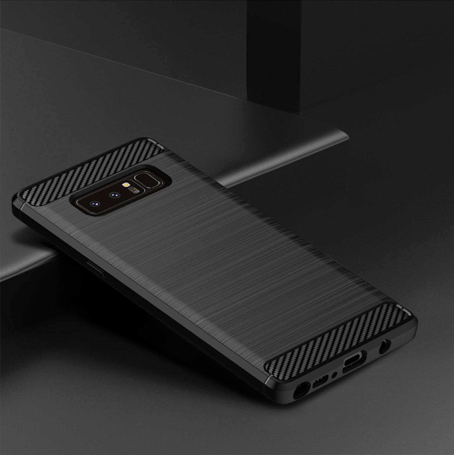 Чехол для Samsung Galaxy Note 8  цвет Black (черный), серия Carbon от Caseport