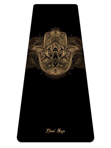 Коврик для йоги Золотая Хамса 183*61*0,35 см из микрофибры и каучука