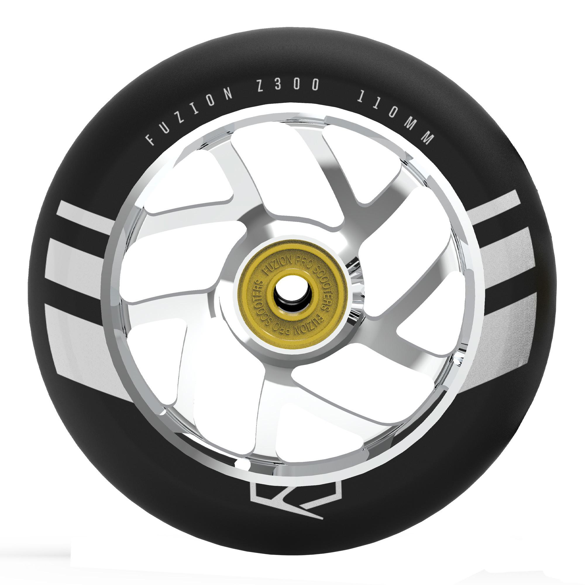 Пара колёс для самоката FUZION Flight (Black/Silver)