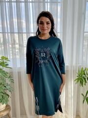 Саманта. Стильне плаття великих розмірів. Смарагд