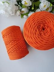 Оранжевое настроение  Хлопковый шнур 4 мм