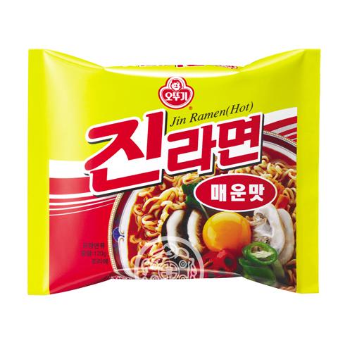 Лапша б/п OTTOGI Джин Рамён острый вкус 120г Южная Корея