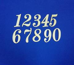 Цифры, 3 мм, деревянные, высота 6 см, 1 шт.