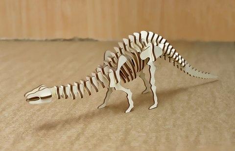 Конструктор ДекорКоми из дерева Динозавр
