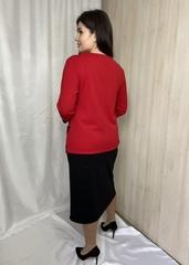 Астрід. Офісний гарний спідничний костюм. Червоний