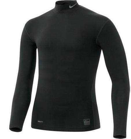 Nike Pro Core Mock T Shirt Mens 269606 (010) рашгард