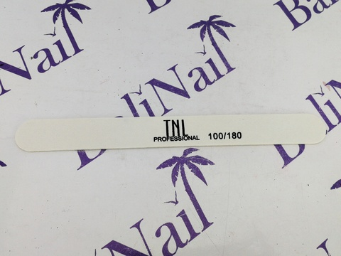 Пилка для ногтей тонкая 100/180 улучшенное качество (белая) (деревянная основа)