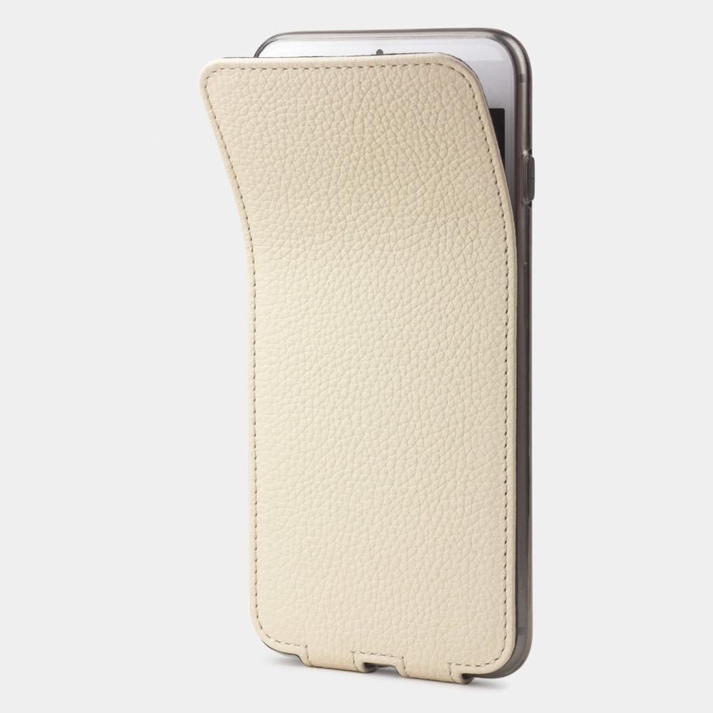 Чехол для iPhone 8/SE из натуральной кожи теленка, молочного цвета