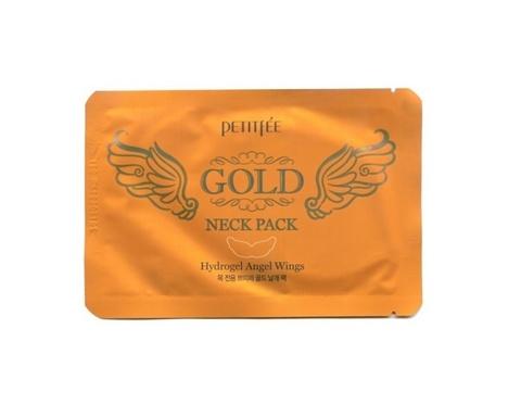 Маска-Патч Для Области Шеи PETITFEE Gold Neck Pack Hydrogel Angel Wings