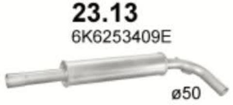 глушитель Seat Cordoba/Ibiza1.0i; 1.4i; 1,6i SDN;1.8; 1.9SDi; 1.9TD 94-02;  VW Polo 1.4i; 1.6i 95 -01; 1.7SDi; 1.9SDi; 1.9TDi 97-01
