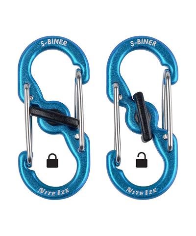 Карабин металлический NiteIze S-Biner MicroLock Aluminum, синий