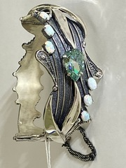 Ландыш  (серебряный браслет)
