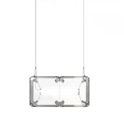 Подвесной светильник копия Hyperqube by Felix Monza (2 плафона, прозрачный)