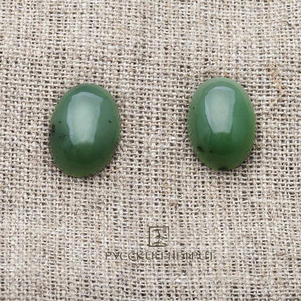 Вставки Кабошон овальный 18мм х 13мм. Зелёный нефрит (класс моде). kabashon18x13x6.jpg