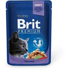 """Пауч для кошек, Brit Premium, """"Треска"""""""