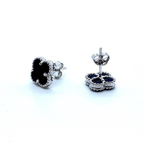 90433 - Серьги-пусеты Trendy-mini из серебра с агатом