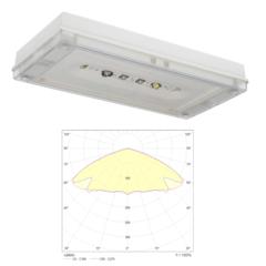 Светильник для эвакуационного и антипанического аварийного освещения открытых пространств SOLID Zone LOWBAY IP65 Teknoware
