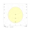 Накладной круглый аварийный ЖКХ светильник Carina LED IP65 Intelight – диаграмма светораспределения