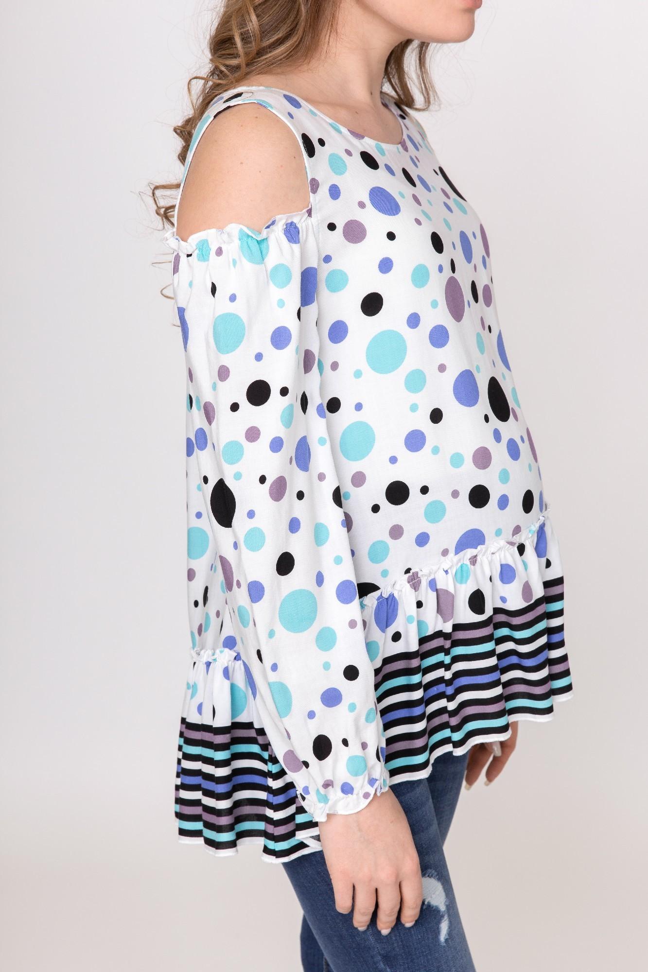 Блузка для беременных 02194 горох