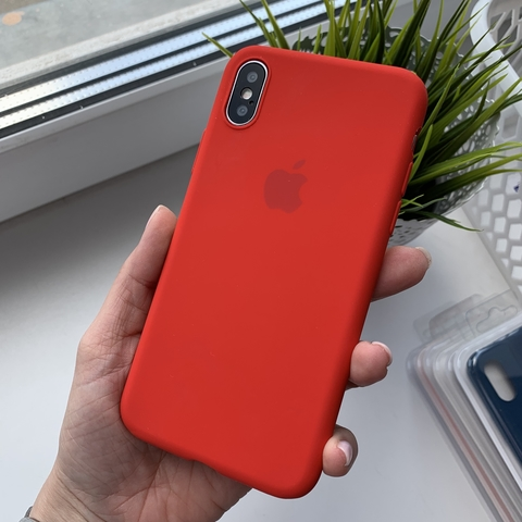 Чехол iPhone X Silicone Slim Case /red/