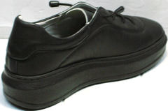Женские черные кроссовки на высокой подошве Rozen M-520 All Black.