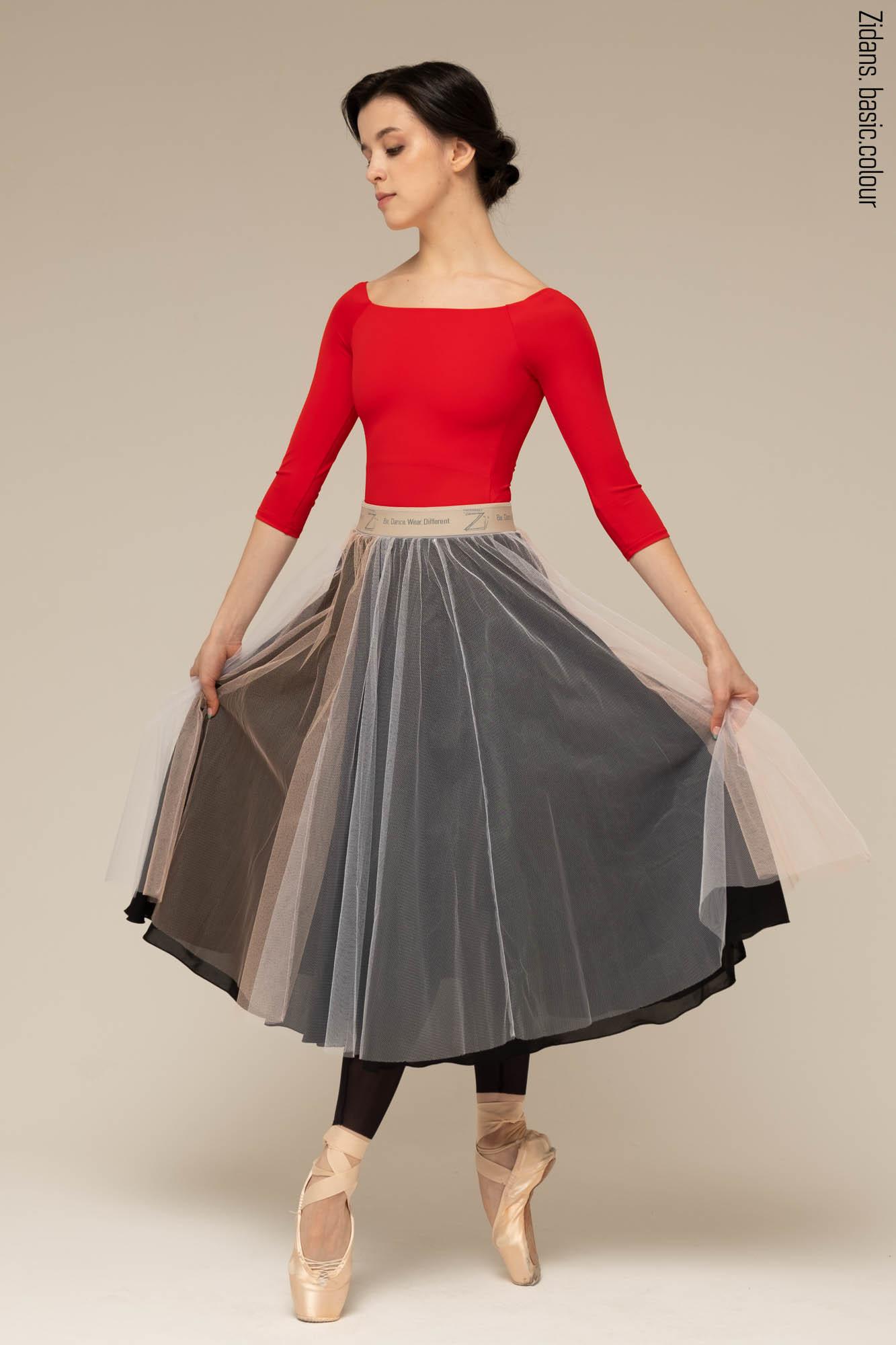 Basic rehearsal tulle skirt   black