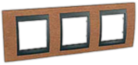Рамка на 3 поста. Цвет Вишня-графит. Schneider electric Unica Top. MGU66.006.2M2