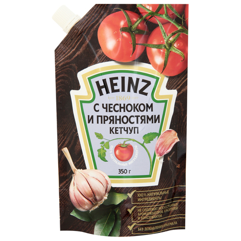 Кетчуп HEINZ Чеснок Пряности 350 г ДП РОССИЯ